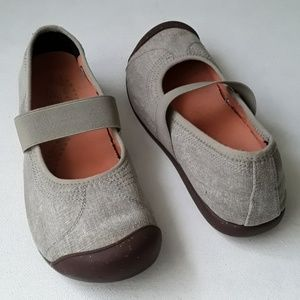 Keen Sienna Canvas Mary Janes